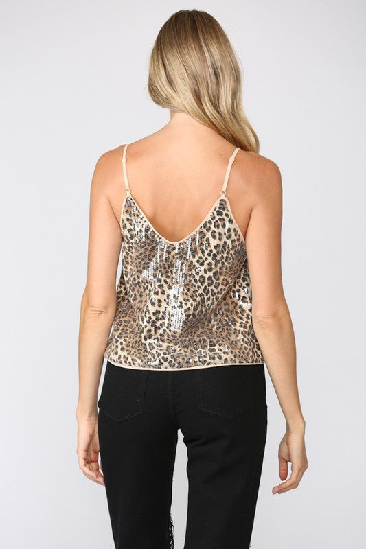 Animal Sequin Cami Top