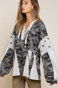 Camo/Star Multi Top