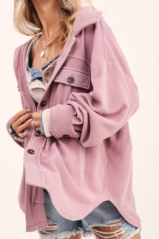 Plush Jacket - Mauve