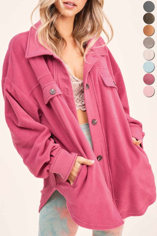 Plush Jacket - Berry