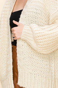 Open Front Sweater Cardigan