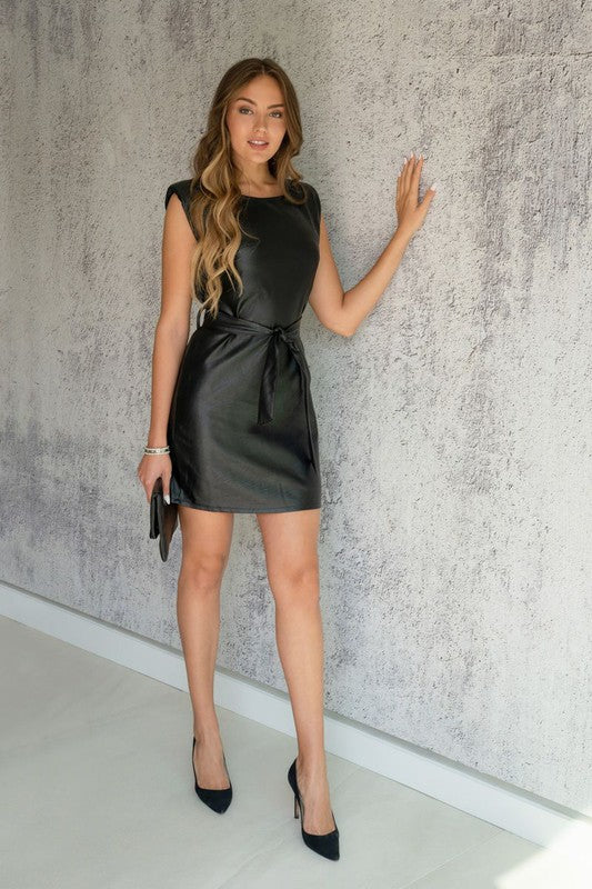 Vegan Leather Dress