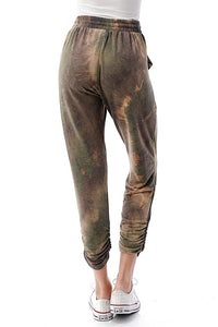 Tie Dye Jogger Pants - Brown