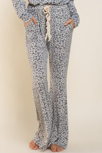 Leopard Pants  - Grey/Charcoal