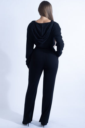Knit Long Pants - Black
