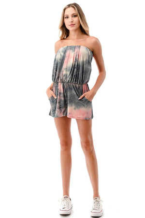 Printed Tube Romper