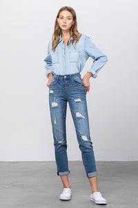 Slim Fit Boyfriend Jeans