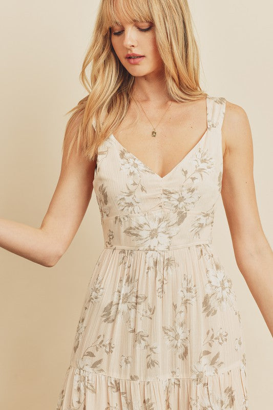 Magnolia Tie-Back Tiered Dress