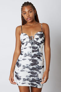 Mesh Tie Dye Mini Dress