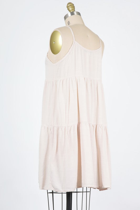 Tiered Midi Dress - Natural