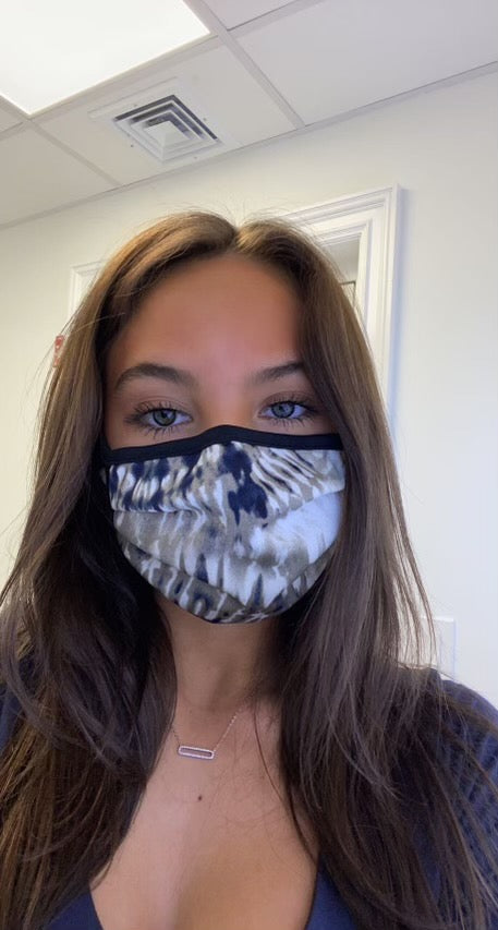 Face Mask - Taupe Tie Dye