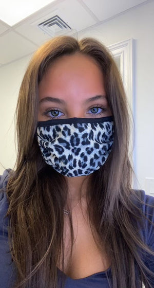 Face Mask - Grey Cheetah