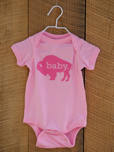 Hometown Onesie in Baby Pink