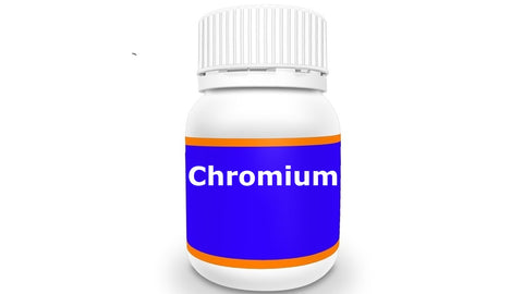 Dietary supplement bottle of Chromium