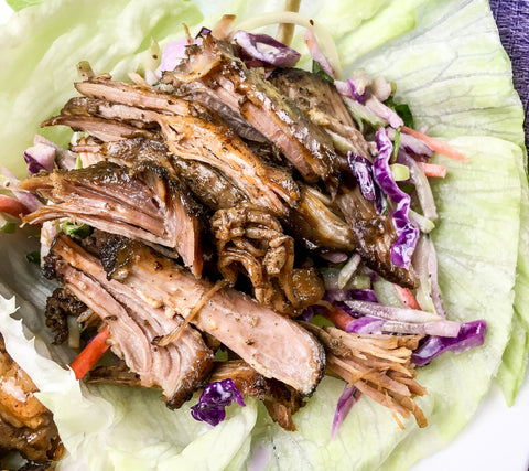 Slow Cooker Pulled Pork Lettuce Wraps
