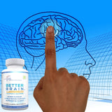 Lunva Better Brain Nootropic Brain Supplement with image of brain
