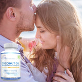 Lunva Organic Coconut Oil Dietary Supplement with couple