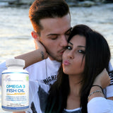Lunva Omega 3 Fish Oil Dietary Supplement with couple