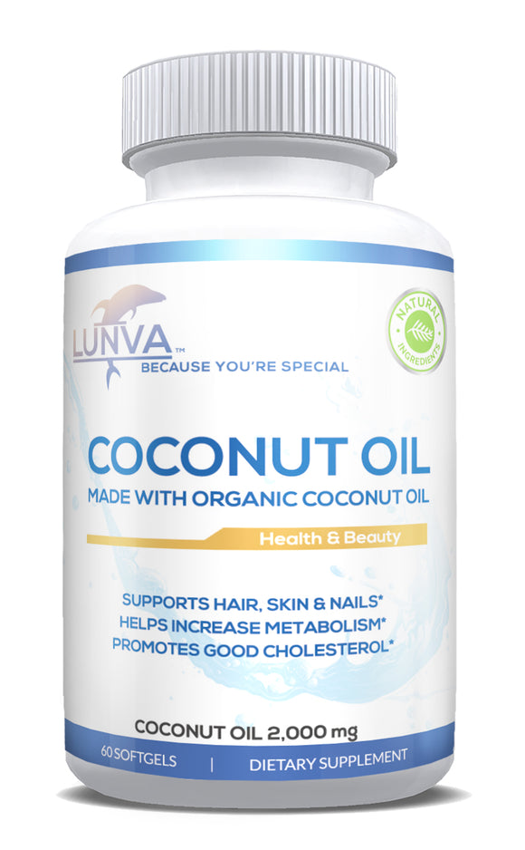 Lunva Organic Coconut Oil Dietary Supplement