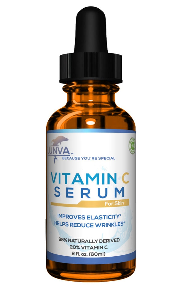 Lunva Vitamin C Serum for Skin in 2 oz bottle