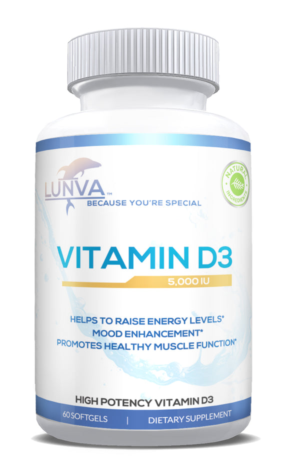 Lunva Vitamin D3 with 5000iu Dietary Supplement