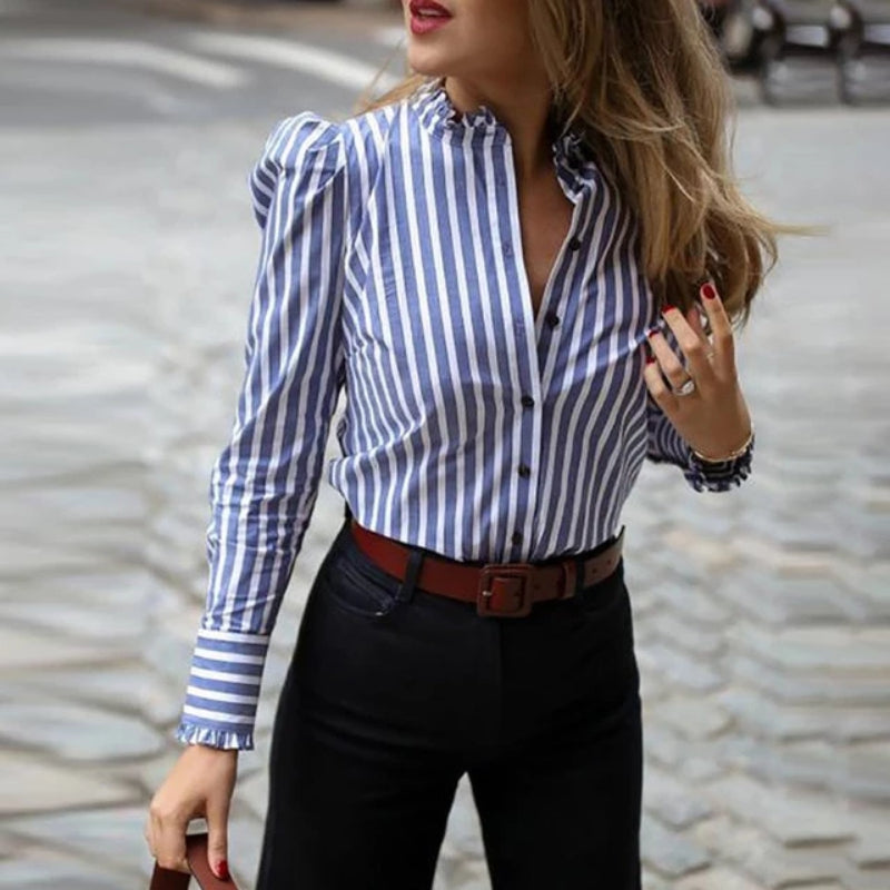 Casual Queen Striped Shirt