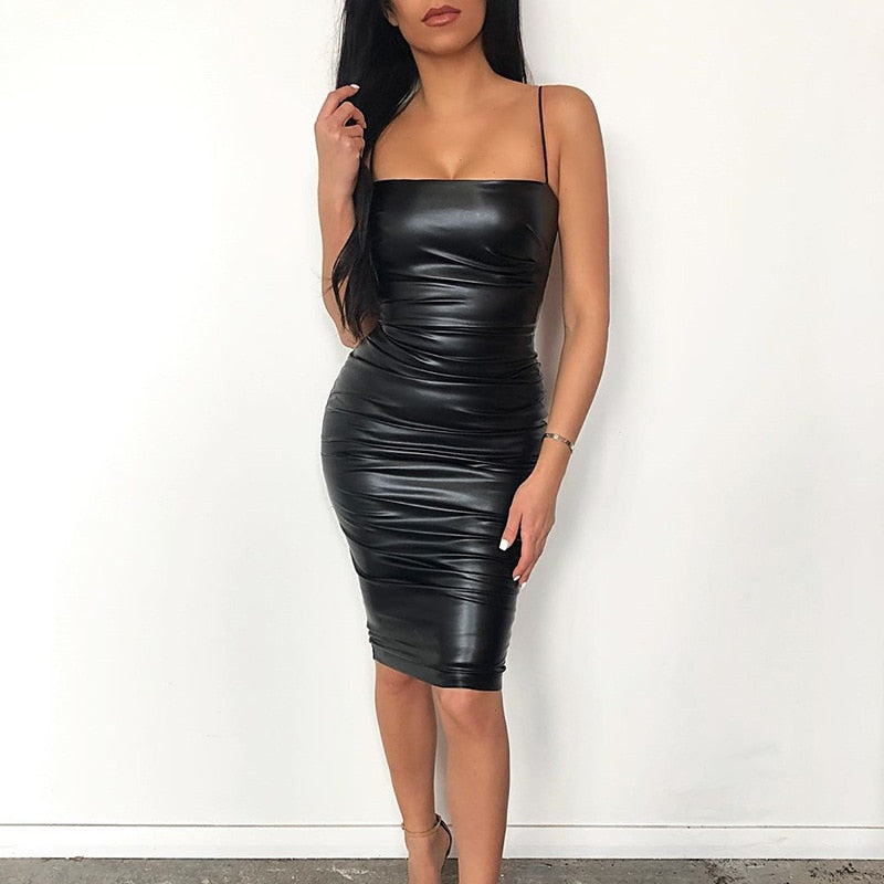 Sexy Leather Dress