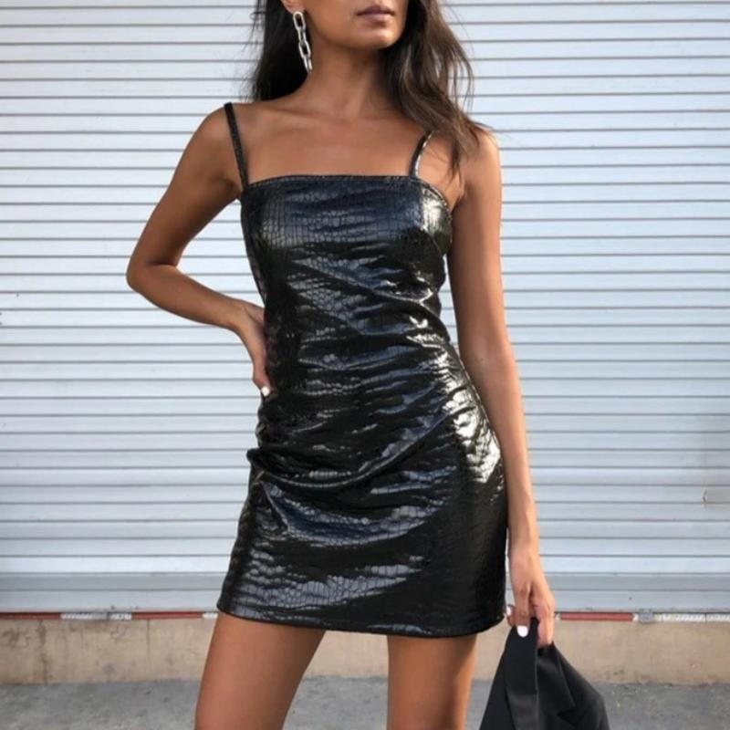 Croco Sexy Mini Dress
