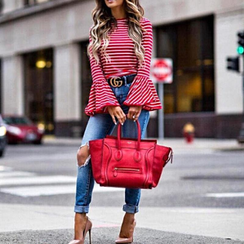 Red Ruffles Blouse