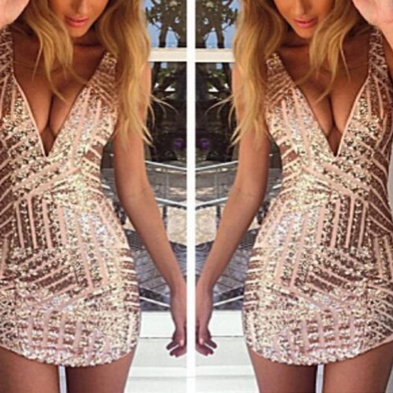 Golden Me Dress
