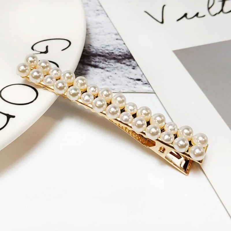 Pearls Hair Clips