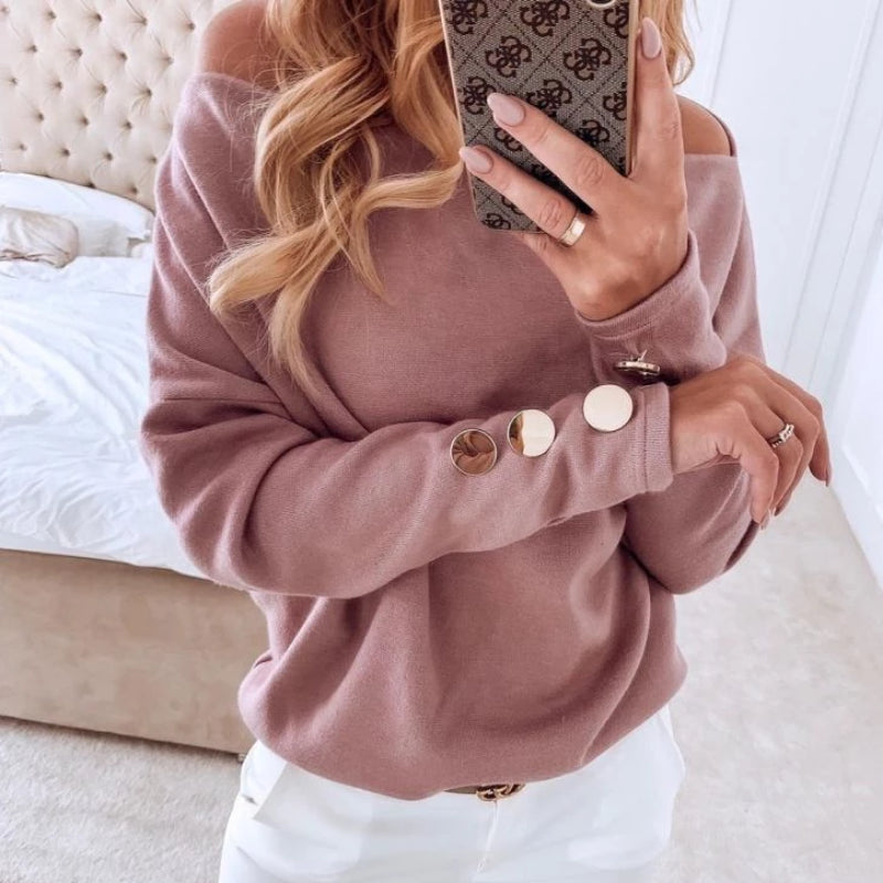 Button Long Sleeve Pullover