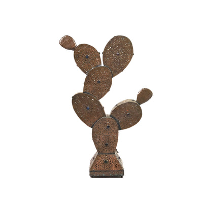 Punched Tin Prickly Pear Cactus Lamp