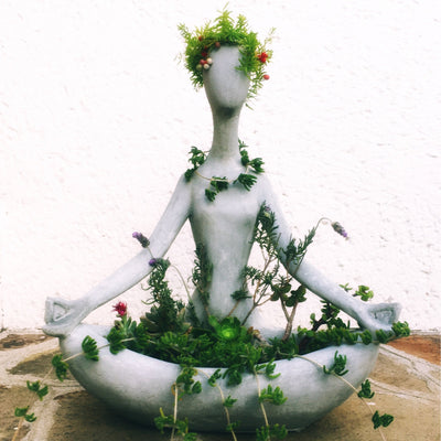 Meditating Zen Yogi Concrete Planter-Concrete Unicorn