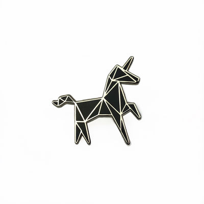 Geometric Unicorn Hard Enamel Pin-Concrete Unicorn