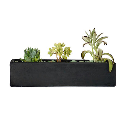 Medium Rectangular Planter-Concrete Unicorn