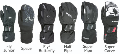 Shop Level Snowboard Gloves
