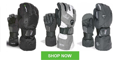 Shop Now for LEVEL Snowboard Gloves with Wrist Guards - AND Nose Wipe Material :-)