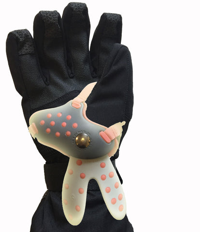 Level Snowboard Glove with BioMex Wrist Guard Position Shown