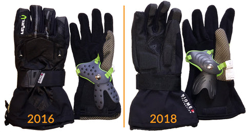 Level Super Pipe Snowboard Gloves Comparison - 2016 model vs 2018 model