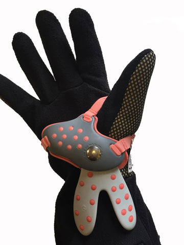 Level BioMex Wrist Guard properly positioned on the inside glove liner