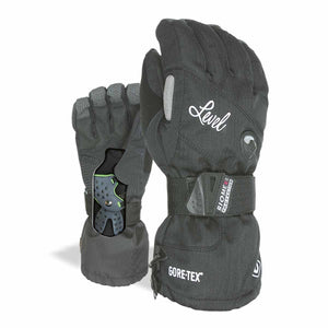 LEVEL Half Pipe GTX Women's Snowboard Gloves with Wrist Guards - Black