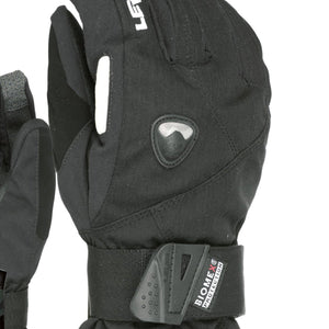 LEVEL Fly Snowboard Gloves with Wrist Guards | LEVEL BioMex Gloves - Close Up View of Black Color