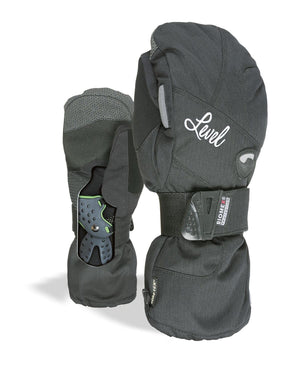 LEVEL Half Pipe GTX Women's Snowboard Mittens with Wrist Guards - Black
