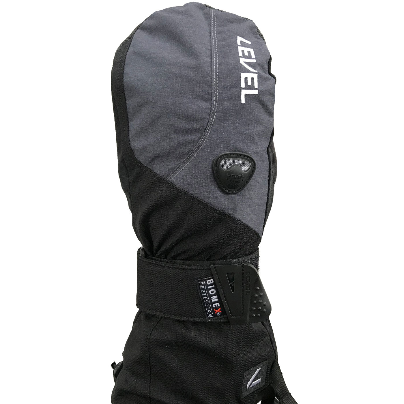 LEVEL Fly Snowboard Mittens with Wrist Guards - Black