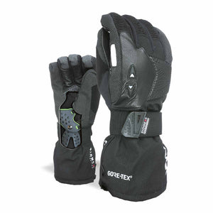 LEVEL Super Pipe Snowboard Gloves with Wrist Guards | Black 2019