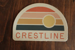 Crestline Retro Sticker