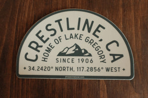 Crestline Home of Lake Gregory Sticker