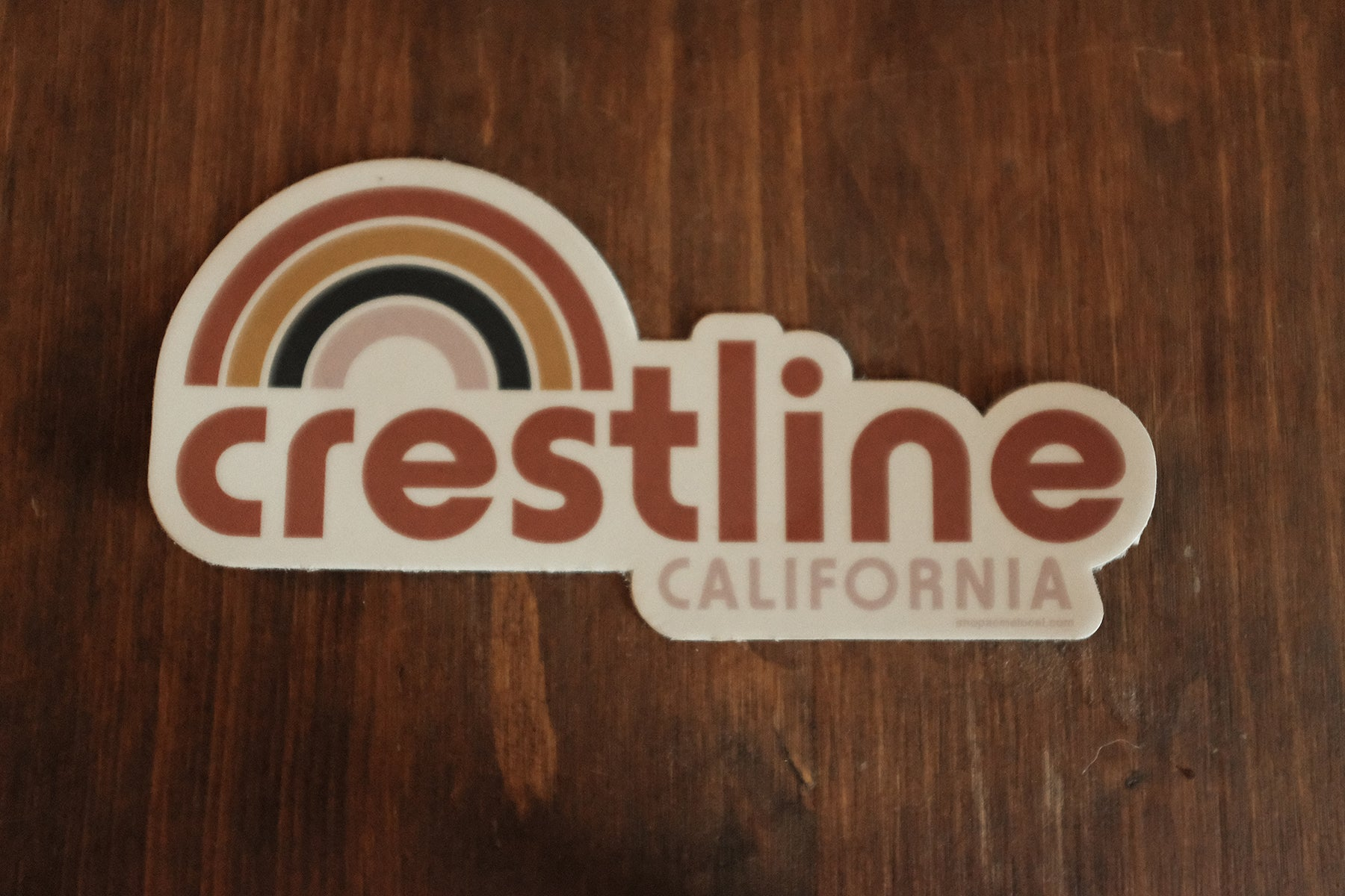 Crestline Rainbow Retro Sticker