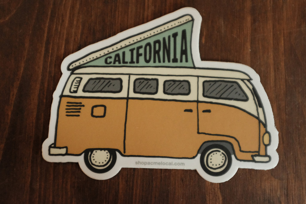 California VW Van Sticker